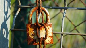 a rusted lock representing a long-term attachment in a relationship
